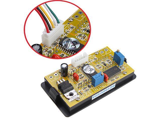 100V 50A DC Digital blue + Red LED Combo Panel Amp Meter Voltmeter w/ Shunt for Equipment and Electromechanical Device