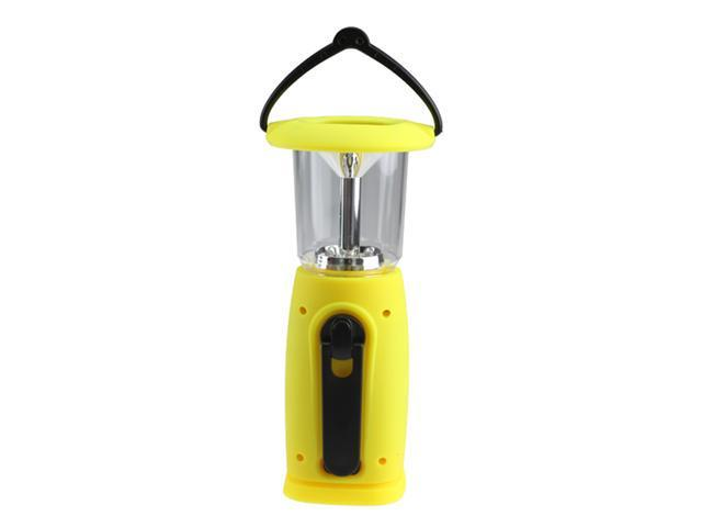 6 LED Hand-Up Dynamo Portable Solar Camping Bivouac Camp Lantern Light for Hunting, Hiking, Camping, Sailing, Geological Prospecting- Yellow