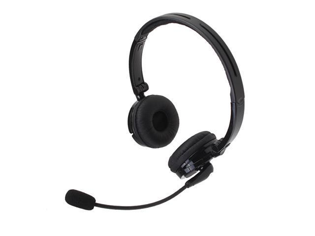 Bluetooth Wireless Headset Headphone Nosie Canceling w/ Boom Mic Microphone Stereo for Apple iPhone 4S, iPhone 4G, iPhone 3GS/3G, The New iPad, iPad 2, PS3
