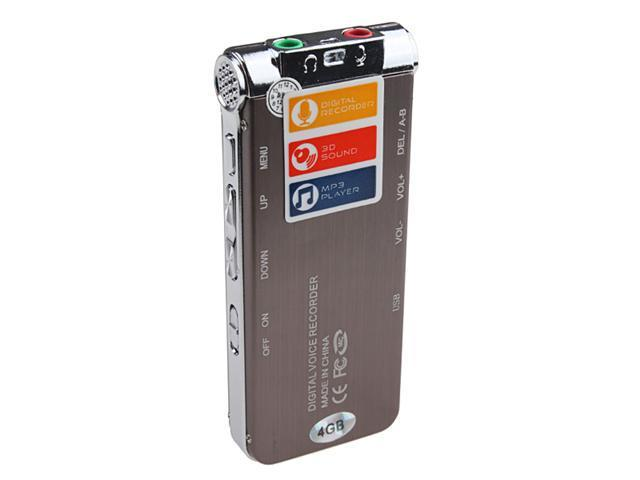 4GB USB Flash Digital Voice Recorder w/ MP3 function