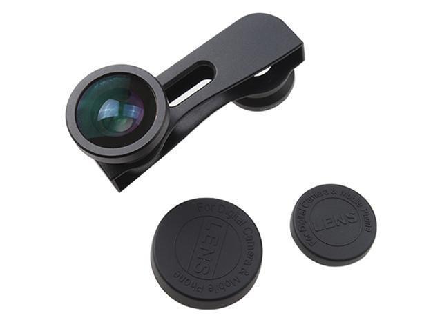 180° Fisheye Lens +Wide Angle Lens +Macro Lens 3-in-1 Black Kit for Apple iPhone 5 5G - Black