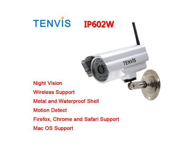 TENVIS Waterproof Outdoor Wireless IP Camera 30 LED Night Vsion iPhone View Webcam Monitor IP602w