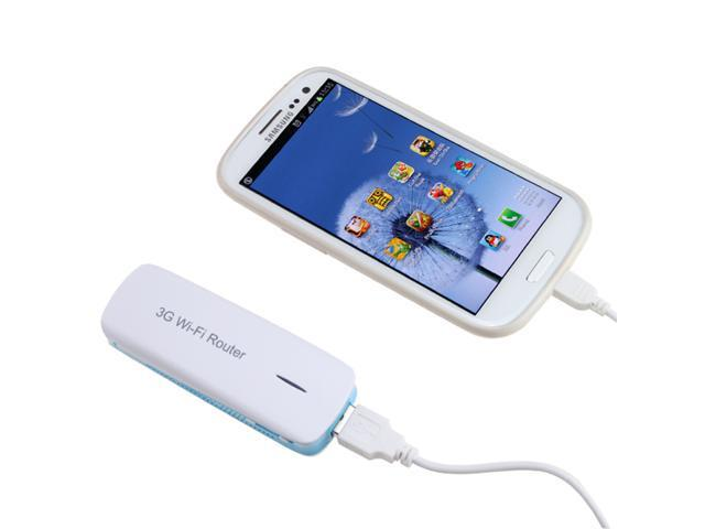 5 in 1 WIFI USB 3G Mobile Wireless Hotspot Router 1800mAh Powerbank Backup