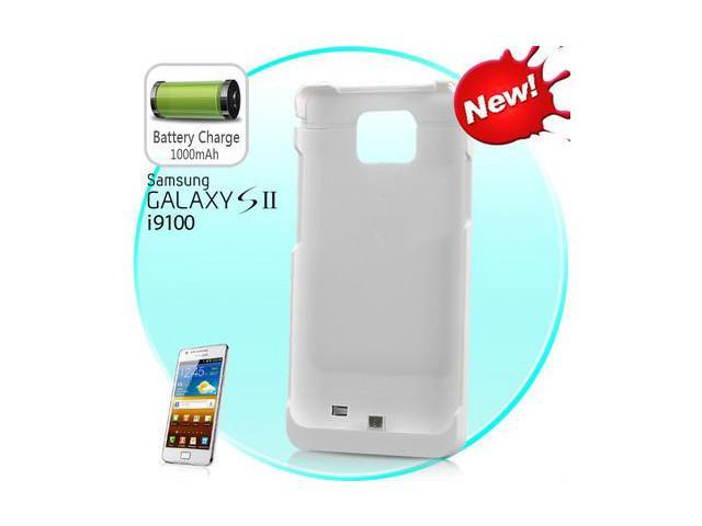 Brand New Battery Pack External 2200mAh Backup Battery Case for Samsung Galaxy S2 SII i9100-White