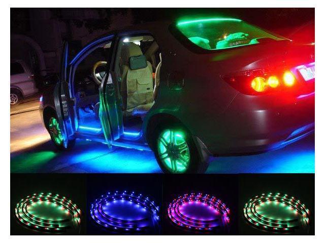 Agptek Ce29 7 Color Led Car Underbody Glow Lights Strip Kit 48
