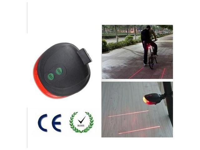 AGPtek Bike Bicycle Laser Beam LED Flash Safety Rear Tail Light Lamp