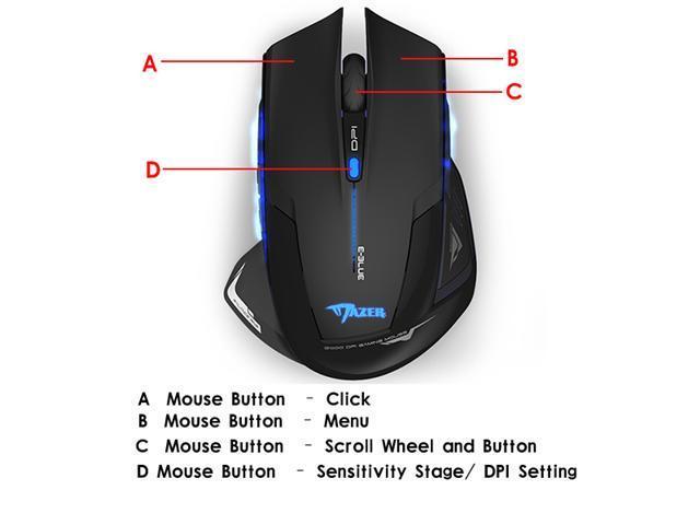 E-3lue E-blue Mazer 2500DPI USB 2.4GHz Wireless Optical Gaming Mouse