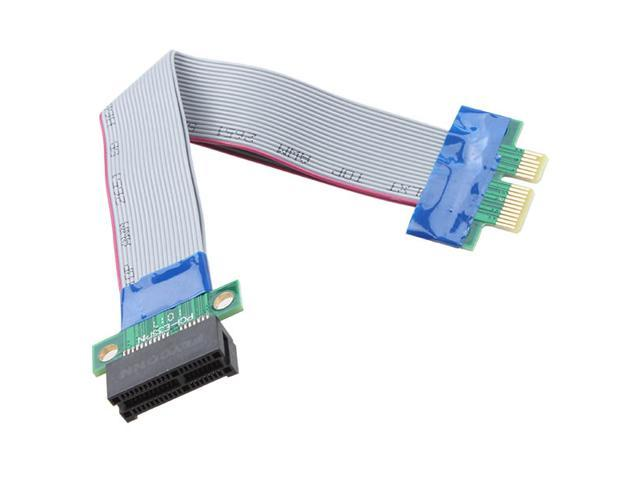 Flexible PCI-E Express Riser 1 Slot Extender Cable Adapter Extension Converter