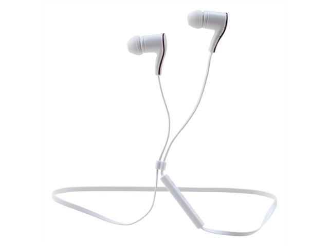 AGPtek HA0028-GL Bluetooth 4.0 Wireless Stereo Sport In-Ear Earbud Headset with Mic for All Bluetooth Devices - White