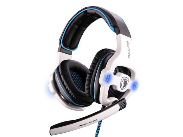 7.1 Surround Sound Effect USB Gaming Headset Headphone Earphone with Microphone Mic for Desktop PC, Laptop