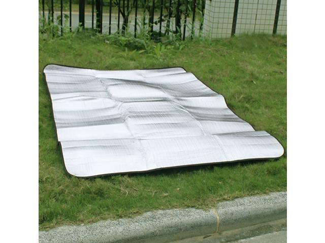 Waterproof Pad Outdoor Foldable Double-sided Aluminum Foil Cushion Moisture-proof Mat Camping Mat Thicken Tent Pad-Silver