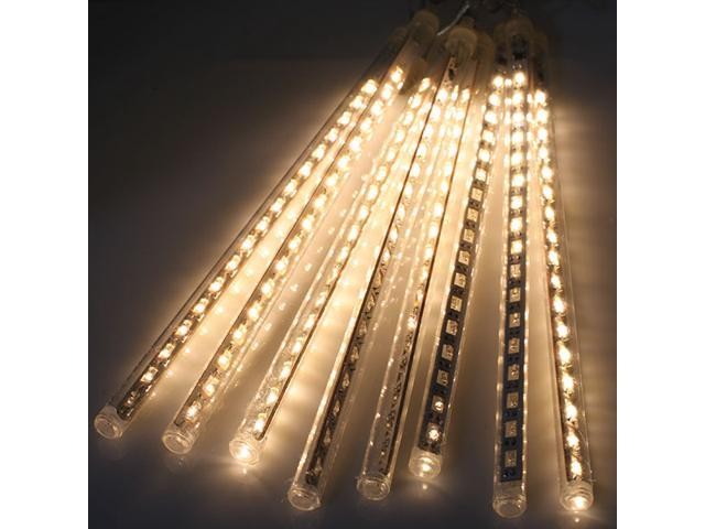 118 inch 8 tube 144 leds meteor shower rain lights waterproof string light for wedding party - Meteor Christmas Lights