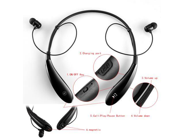 agptek hv 801 wireless earbud bluetooth headset sport stereo headset headphone for iphone 6 6. Black Bedroom Furniture Sets. Home Design Ideas