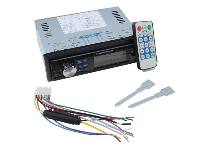 AGPtek Car In-Dash Stereo Audio FM Receiver w/ MP3 Player USB SD Input AUX