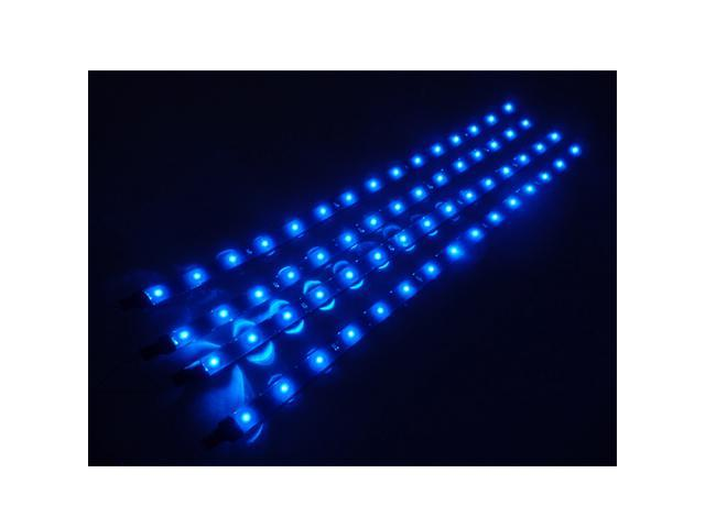 LED Car Motors Truck Flexible Waterproof Light Strips 4x30cm Blue