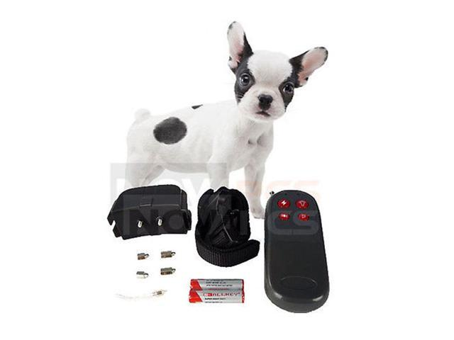 4 In 1 Remote Small/Med Dog Training Shock Vibrate Collar Trainer Safe For Pet with  Batteries