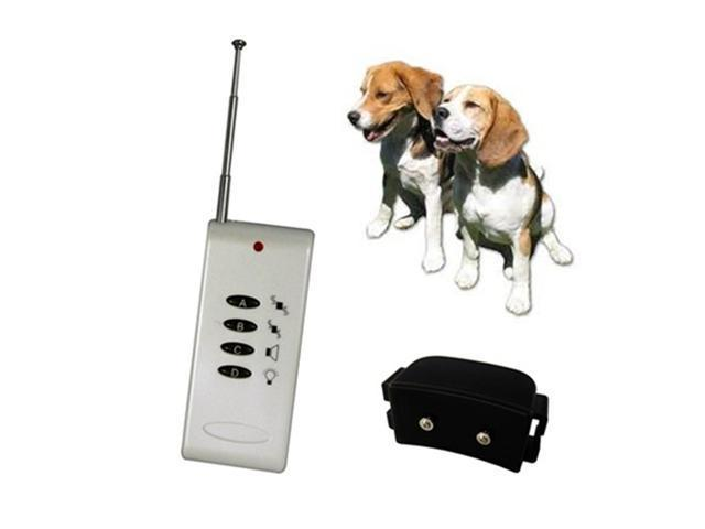 White Vibrate Remote Control Small Dog Training Collar / System