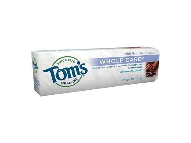 Whole Care Fluoride Toothpaste Cinnamon Clove - Tom's Of Maine - 4.7 oz - Tube