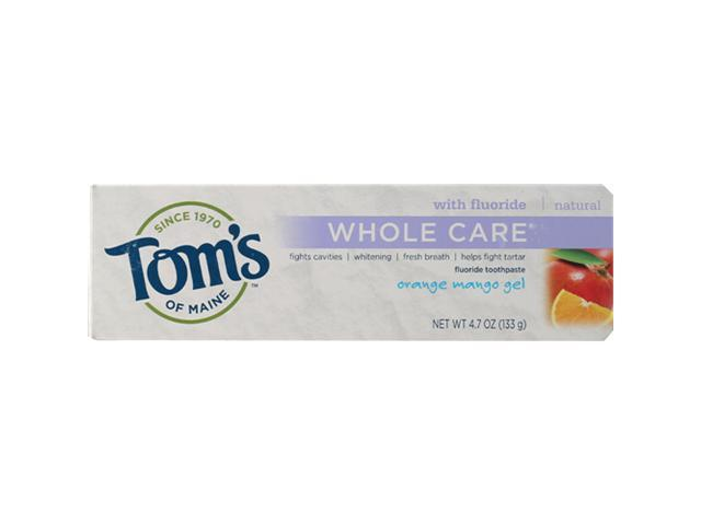 Whole Care Orange-Mango - Tom's Of Maine - 4.7 oz - Gel
