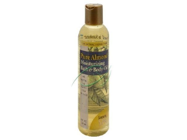 Body Oil-Pure Almond - Sunshine Spa - 8 oz - Liquid