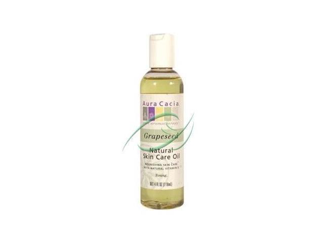 Pure Skin Care Oil-Grapeseed - Aura Cacia - 4 oz - Liquid