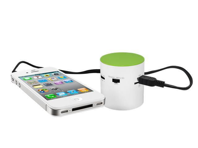 EZ MP3 Cool 360 Speaker, Compatible with iPhone/ iPad/ iPod / Smart Phones and supports Micro SD Cards