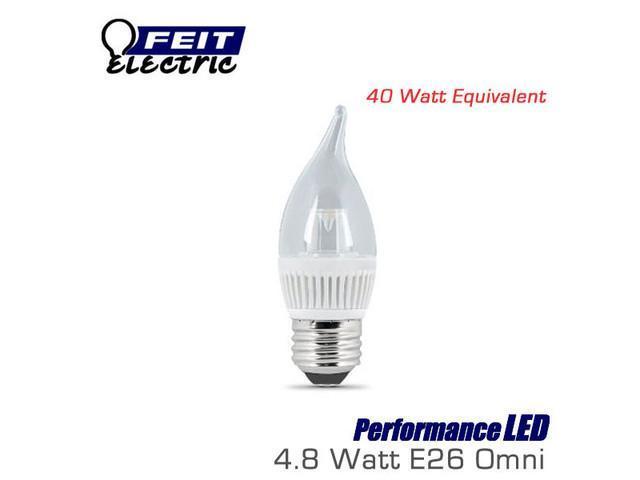 FEIT PerformanceLED 4.8 Watt Dimmable E26 Chandelier Candelabra LED Light Bulb