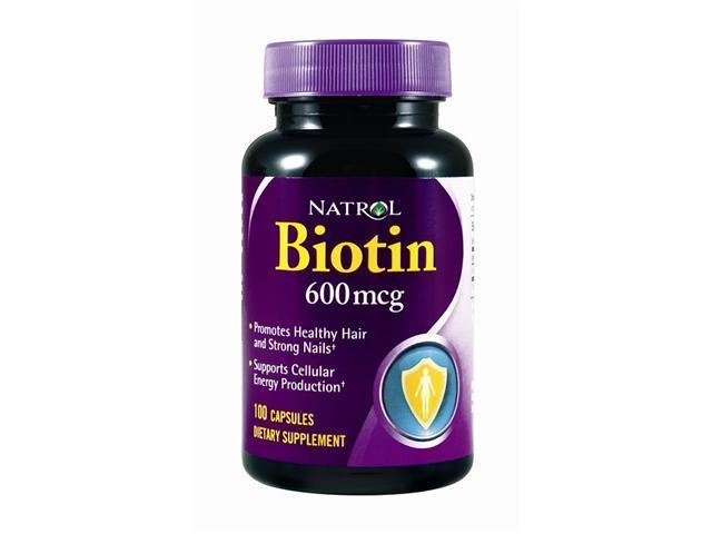 Natrol, Biotin 600mcg Caps 100 Capsules