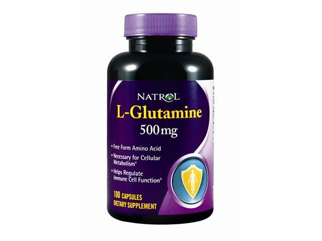 Natrol, L-Glutamine 500mg 100 Capsules