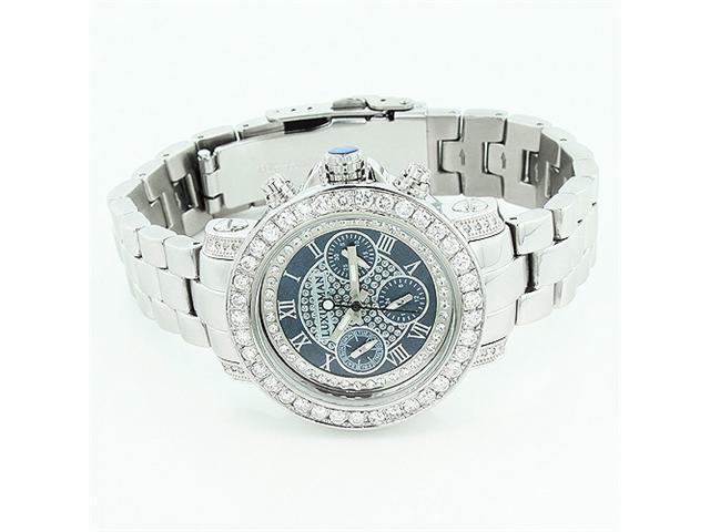 Luxurman Watches: Ladies Diamond Watch 3ct Black