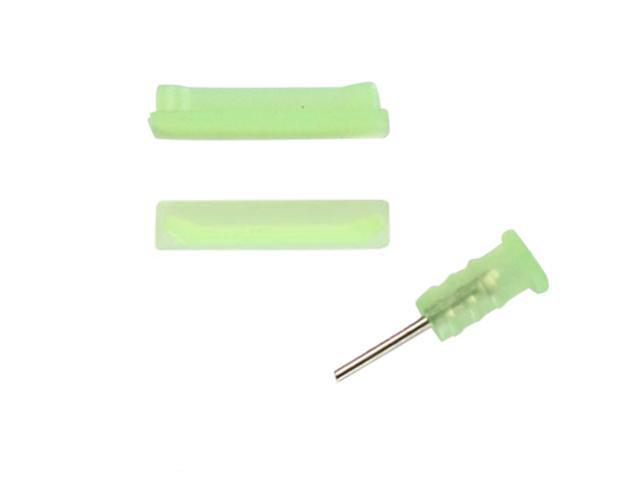 [ZIYA] iPhone 4S 4G Silicone Earphone Jack & Connector Dust Cover Cap (Colorful series) -Green