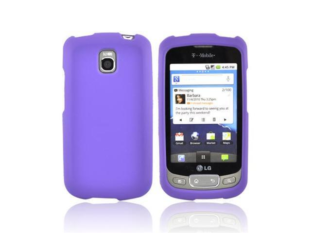 Purple Rubberized Hard Plastic Snap On Case Cover For LT Optimus T LG Thrive