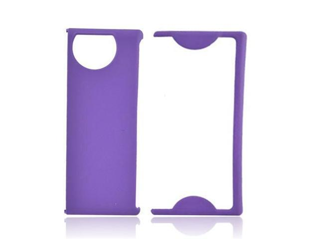 Purple Rubberized Hard Plastic Snap On Case Cover For Kyocera Echo M9300