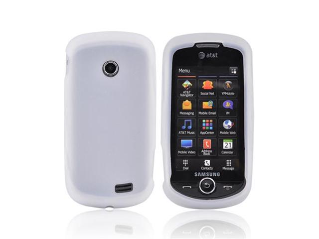 Frost White Rubber Feel Silicone Skin Case Cover For Samsung Solstice II A817