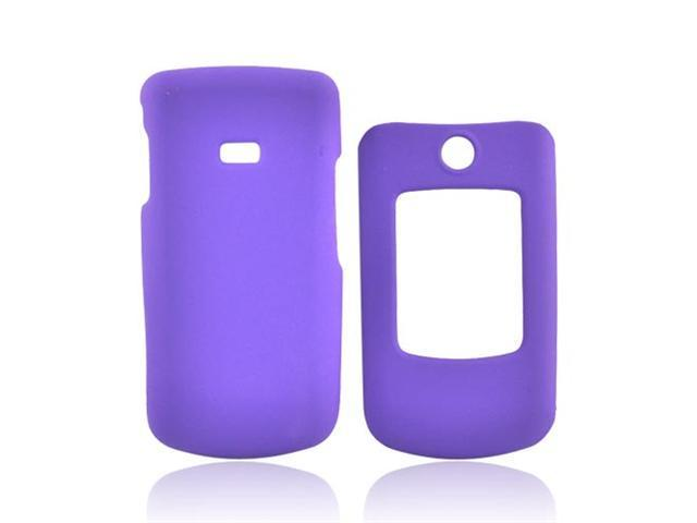 Purple Rubberized Hard Plastic Snap On Case Cover For Samsung Contour R250