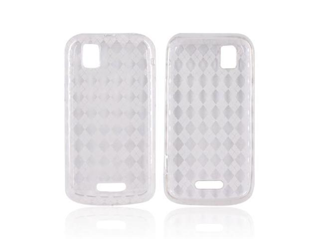 Transparent Clear Argyle Hard Crystal TPU Silicone Case Cover For Motorola XPRT