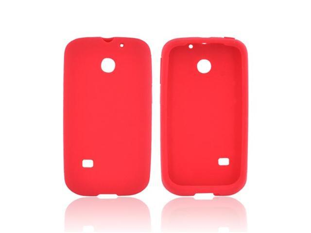 Ascend 2 Case, [Red] Slim & Flexible Anti-shock Matte Reinforced Silicone Rubber Protective Skin Case Cover for Huawei