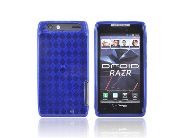 Motorola Droid RAZR Case, [Blue] Slim & Flexible Anti-shock Crystal Silicone Protective TPU Gel Skin Case Cover