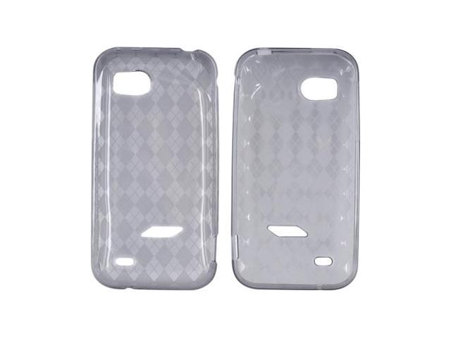 Argyle Smoke TPU Crystal Rubbery Silicone Case Cover For HTC Rezound