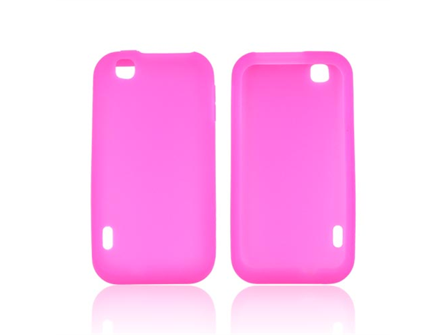 Hot Pink Rubbery Feel Silicone Skin Case Cover For T-mobile Mytouch