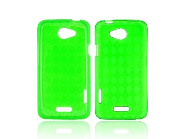 Argyle Green TPU Crystal Silicone Case Cover For HTC One X