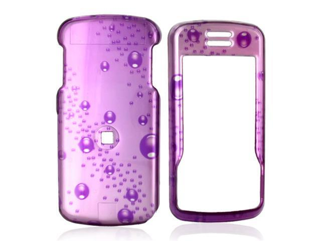 Motorola Debut i856 Hard Plastic Case - Bubbles on Purple