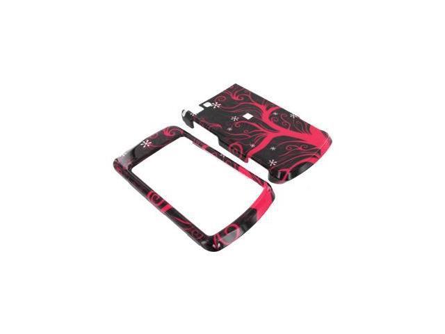 Motorola Stature i9 Plastic Case  - Hot Pink Tree on Black