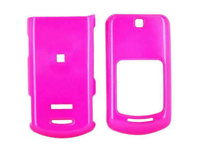 Motorola VE465 Hard Plastic Case  - Hot Pink