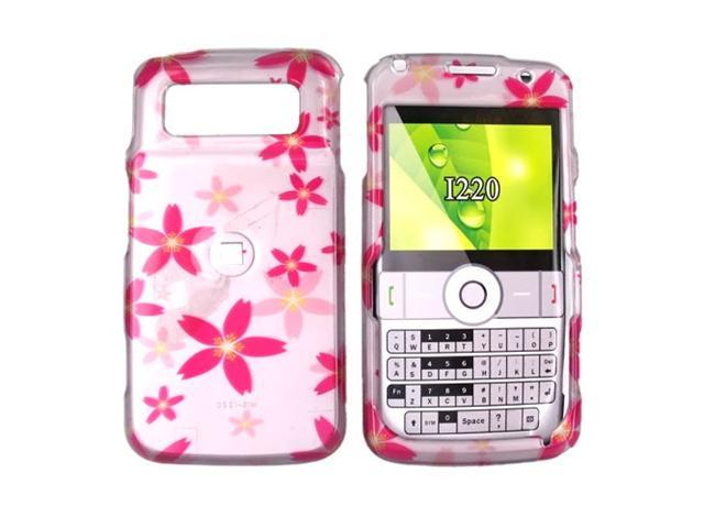 Samsung I220 Hard Plastic Case  - Pink Flowers on Pink