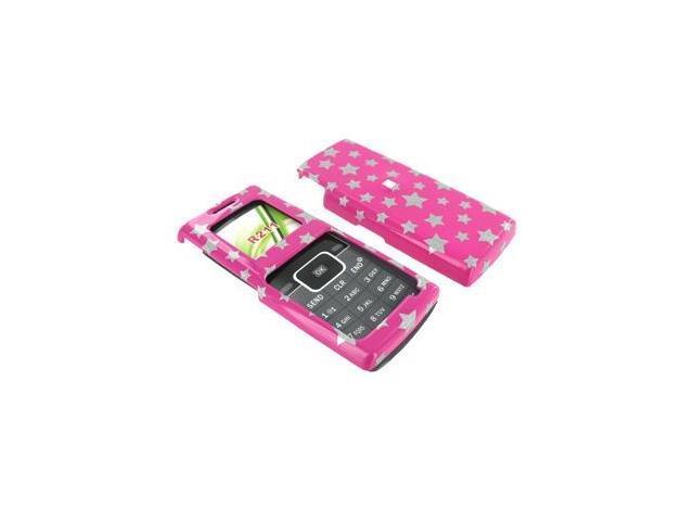 Samsung R211 Plastic Case  - Silver Stars on Pink