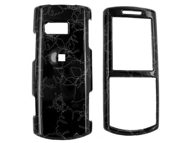 Samsung Messager II R560 Hard Plastic Case  - Summer Flowers on Black