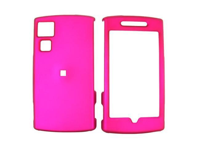 Garmin Nuvifone G60 Rubberized Hard Plastic Case  - Rose Pink