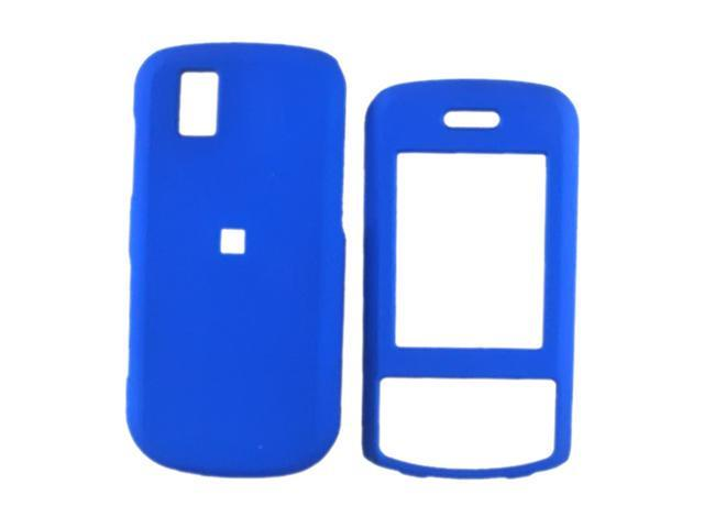 LG Shine 2 GD710 Rubberized Hard Plastic Case - Blue