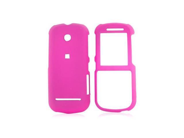 Motorola VE440 Rubberized Hard Plastic Case  - Hot Pink